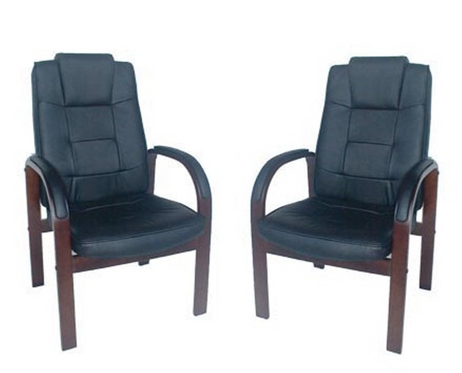 Poltrone poltrona sedie sedia pelle nera per ufficio ospite