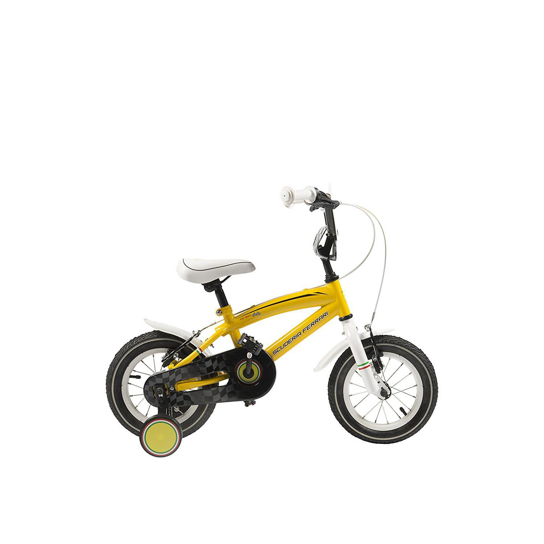 Bici Bicicletta Bambino Mtb 14 Ferrari Gialla