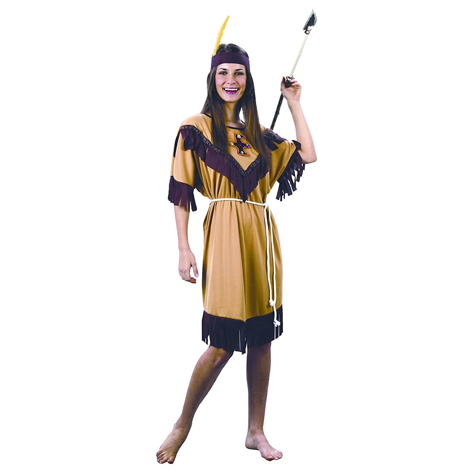 Da Indiana Vestito Carnevale Donna Abito Di Costume Travestimento m8vNn0w