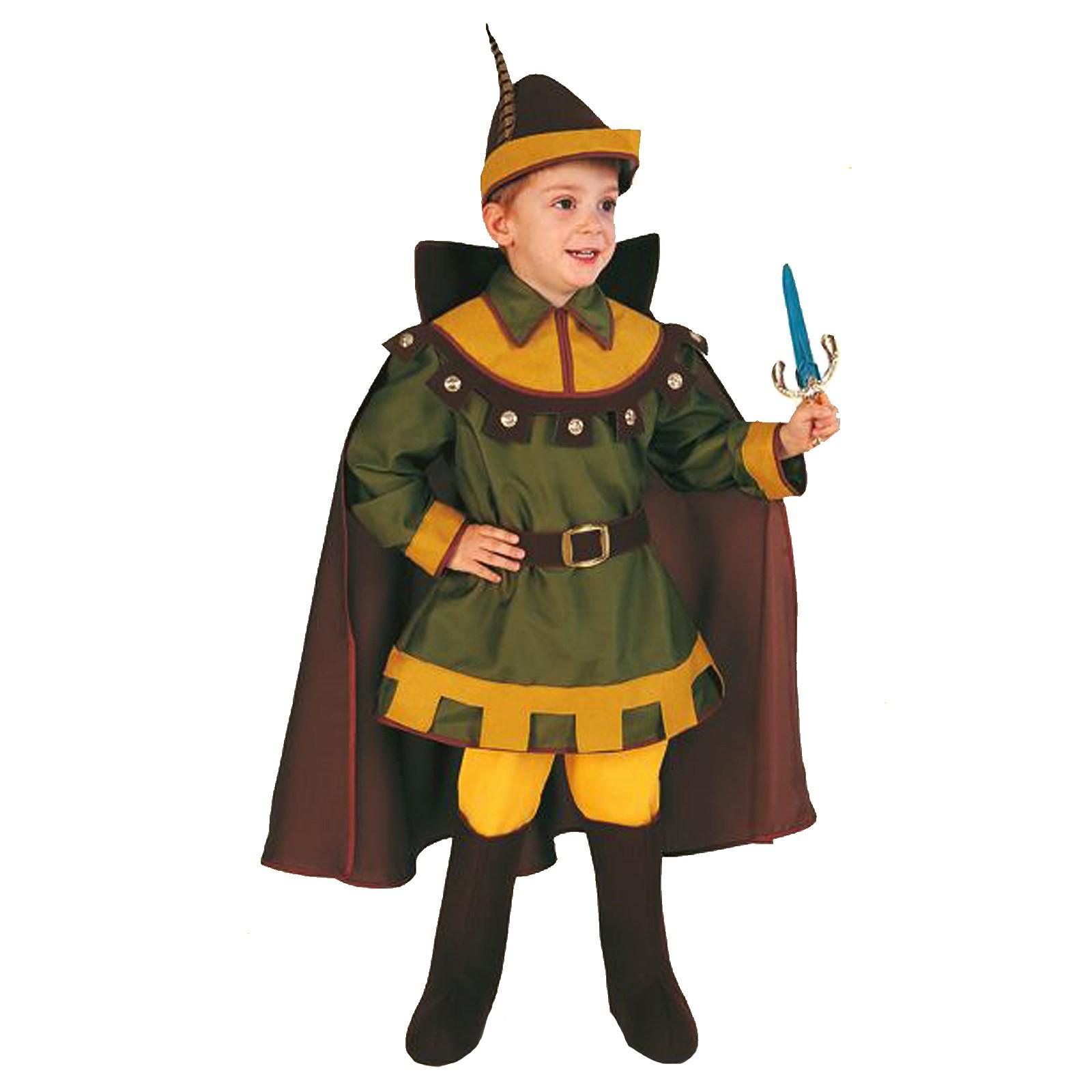 Costume Vestito di Carnevale Robin Hood Bambino Travestimento 3 4 Anni 86 Cm 9e4c66ddc448