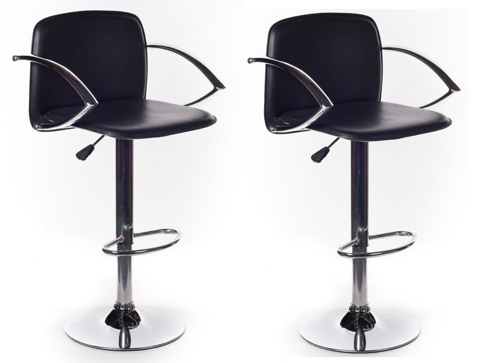 Sgabelli sgabello sedia sedie seduta regolabile in eco pelle neri