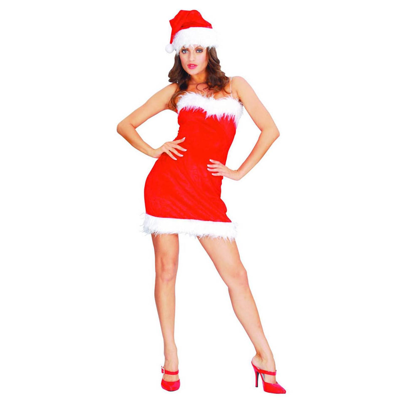 Natale Taglia Donna Lady Unica Vestito Christmas Costume Sexy Babbo PkZuiOlTwX