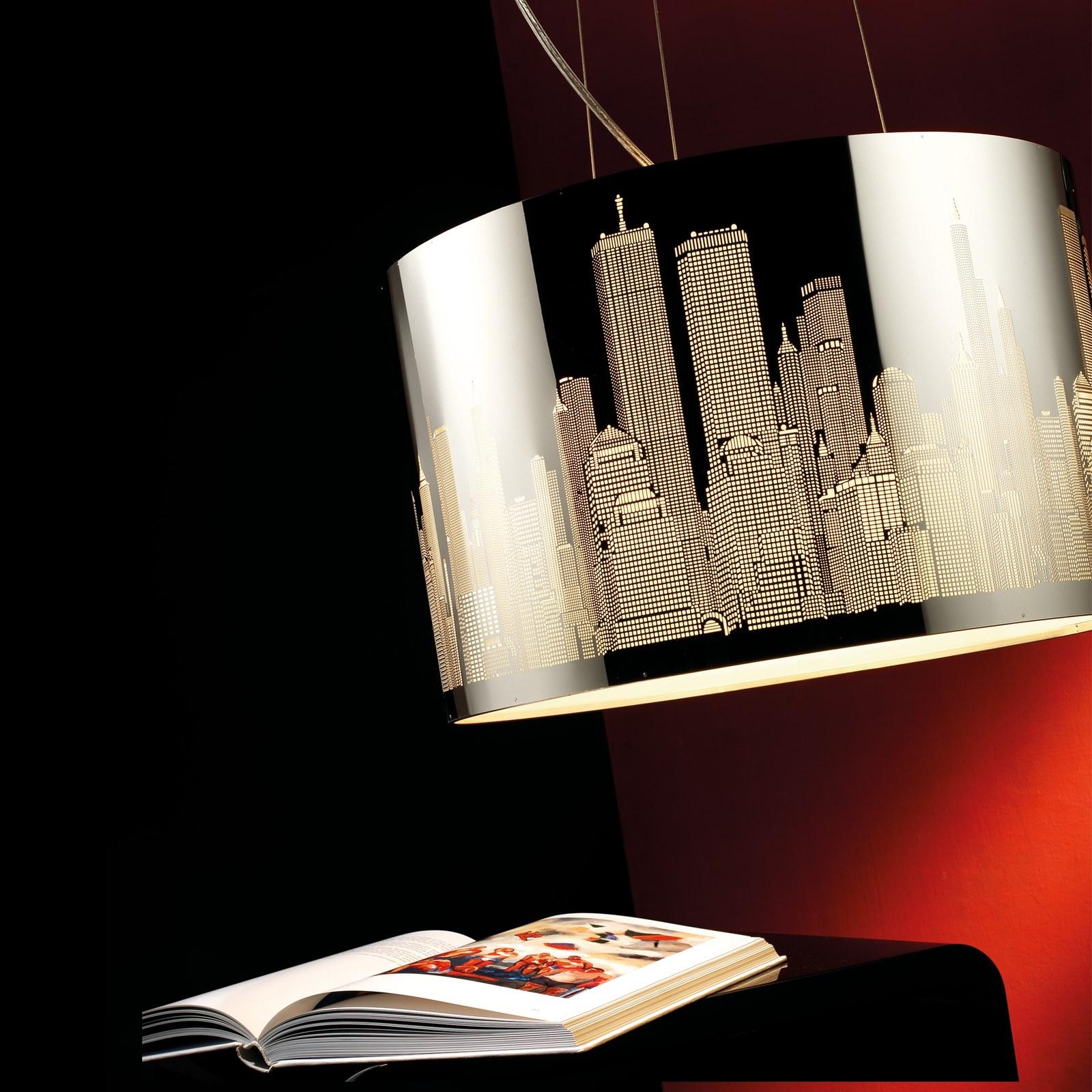 Lampada lampadario soffitto a led sospensione columbus pan ...