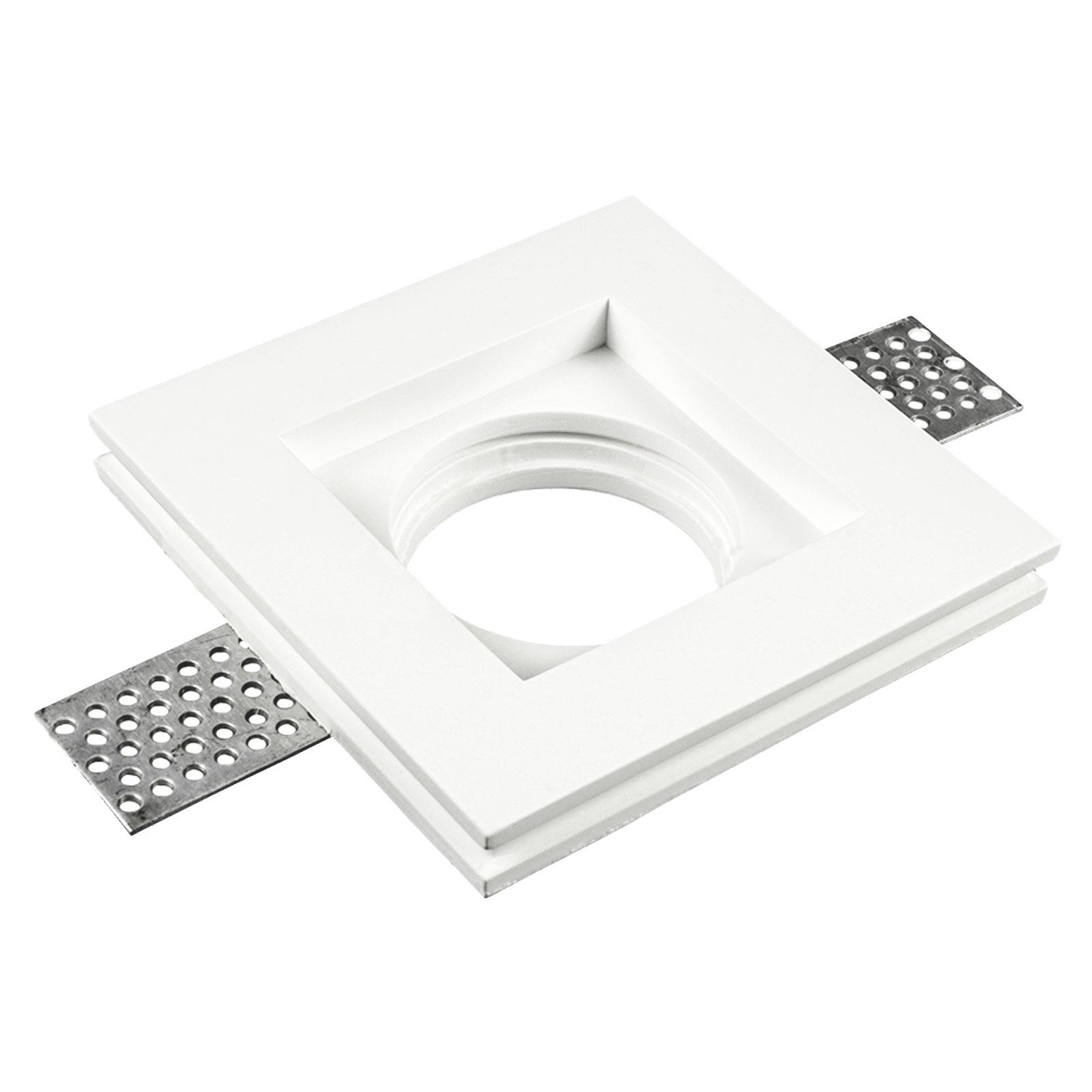 Faretti Incasso Di Gesso dettagli su supporto per faretto in gesso da incasso led quadrato gu10